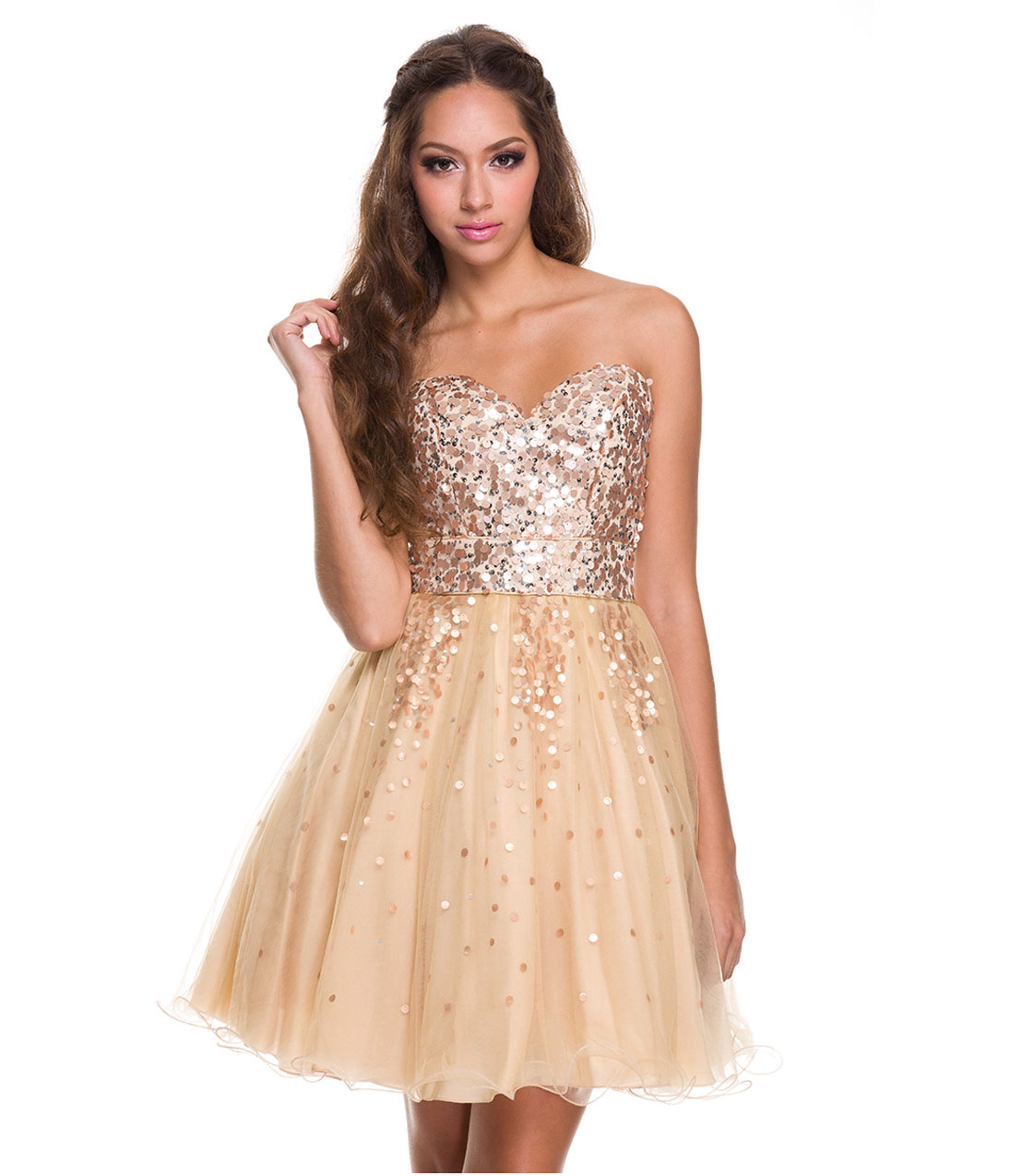 Gold Homecoming Dresses - Boutique Prom Dresses