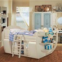 CLASSIC STYLE WOODEN STORAGE BED WITH CABINET LETTO DEL CAPITANO | CAROTI