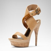 bebe Edie Leather Sandal
