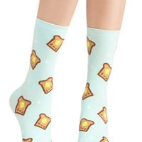 Bread and Breakfast Socks | Mod Retro Vintage Socks | ModCloth.com
