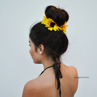 Sunflower Flower Bun Wrap