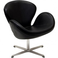 Wing Lounge Chair in Black