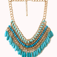 Globetrotter Beaded Bib Necklace | FOREVER21 - 1000127282