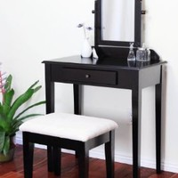 Amazon.com: Simple White Vanity Set By Coaster: Home &amp; Kitchen