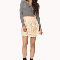 Romantic Floral Lace Skirt | FOREVER21 - 2000128964