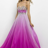 Blush Prom 9785 Purple Ombre Ball Gown