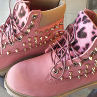 SALE:) Custom Pink Timberlands