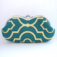 Frame sunglasses case/ Clutch Purse-Twill Seaside