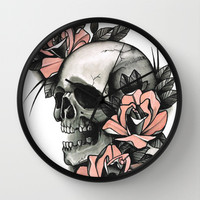Death - tattoo Wall Clock by Guru
