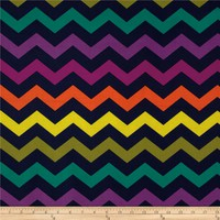 Michael Miller Norwegian Woods Too Chic Chevron Midnight