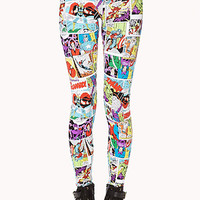 Vibrant Comic Print Leggings