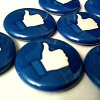 FACEBOOK LIKE a pinback button set by SkippyDogDesigns on Etsy