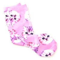 KITTY CAT PHOTO PRINT SOCKS
