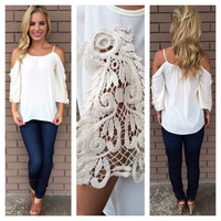 Ivory Bonita Off Shoulder Top