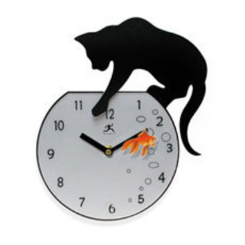 Fisher Cat Clock