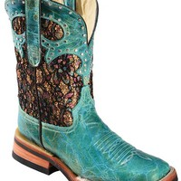 Ferrini Glittery Shorty Cowgirl Boots - Square Toe - Sheplers