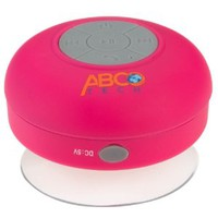 Abco Tech Waterproof Wireless Bluetooth Shower Speaker & Handsfree speakerphone - - Compatible with all Bluetooth Devices, iPhone 5 Siri and All Android devices (Pink)