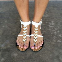 White Arrow Sandal