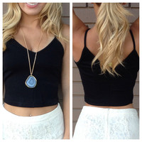 Black Raylee Crop Tank