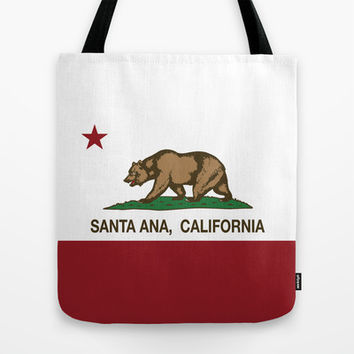 Santa Ana California Republic Flag Tote Bag by NorCal