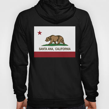 Santa Ana California Republic Flag Hoody by NorCal