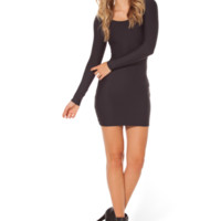 MATTE LONG SLEEVE DRESS