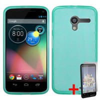 MOTOROLA MOTO X PHONE TEAL TPU RUBBERIZED SKIN COVER SOFT GEL CASE +FREE SCREEN PROTECTOR from [ACCESSORY ARENA]