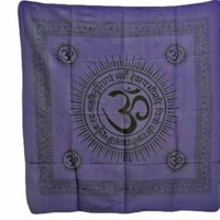 "Om Gayatri Mantra Cotton Altar Cloth (40""x 40"")"