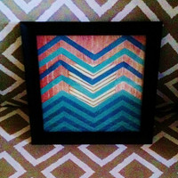 Chevron Collage 8x8 With Frame