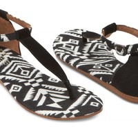 Black Woven Women's Playa Sandals