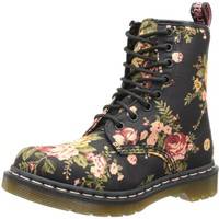 Dr. Martens Women's 1460 Re-Invented Victorian Print Lace Up Boot,Black Victorian Flowers,8 UK (10 M US Womens)