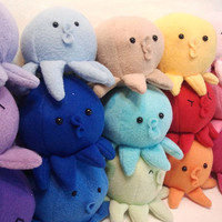 Custom color Baby Octopus Squeaks Aka Tako