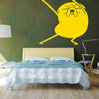 Adventure Time Wall Decal Jake Dancing Sticker Wall Art Vinyl Finn Jake Cartoon Dog Kids Room Decor