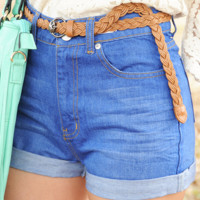 Easy To Love Shorts: Denim