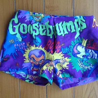 S / M / L GOOSEBUMPS Scary Monsters High Waist Shorts 90's // 1990's Beach Hot Shorts // X / Small // Medium // Large // Festival
