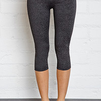 Heathered Fold-Over Performance Capris