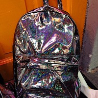 SWEET LORD O'MIGHTY! HOLOGRAPHIC BACKPACK IN GUNMETAL