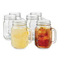 Libbey® Country Folk 16 1/2-Ounce Mason Drinking Jars (Set of 6)