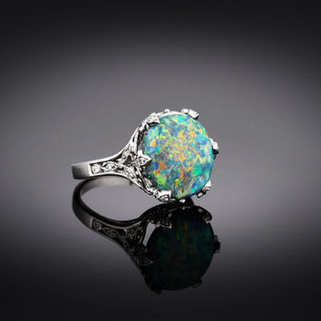 Tiffany & Co. Black Opal Ring
