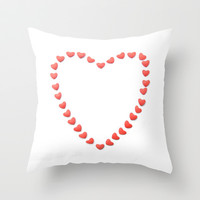 Heart of Hearts Throw Pillow by RichCaspian