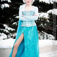 Elsa Frozen Costume Cosplay