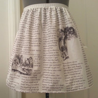 Alice in Wonderland inspired skirt - made to order