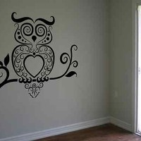 Owl Wall Decal Owls Mural Wall Art Bird Vinyl Poster Girls Room Home Decor Kids