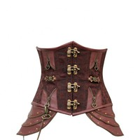 Brown Brocade Steampunk Underbust