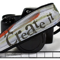 Urban Grunge Camera Strap, dSLR, Care about it, Create it, Mean it, SLR, 111