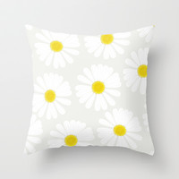 Chamomile Throw Pillow by Georgiana Paraschiv