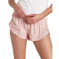 HIGH-CUT WOVEN CROCHET SHORT SHORTS