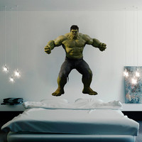 Incredible Hulk Decal - Heroes and Super heroes Printed and Die-Cut Vinyl Apply in any Flat Surface- Avengers Hulk Wall Art Decor