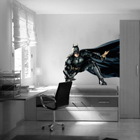 Batman Decal - Heroes and Super heroes Printed and Die-Cut Vinyl Apply in any Flat Surface- Batman Dark Knight Wall Art Decor