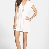 Lush 'Katie' Surplice Chiffon Skater Dress (Juniors) | Nordstrom